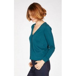 Gilet tricot 100% coton bio et végan : 3 coloris au choix