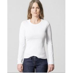 T-shirt drape neck longsleeve woman in hemp : 2 colours