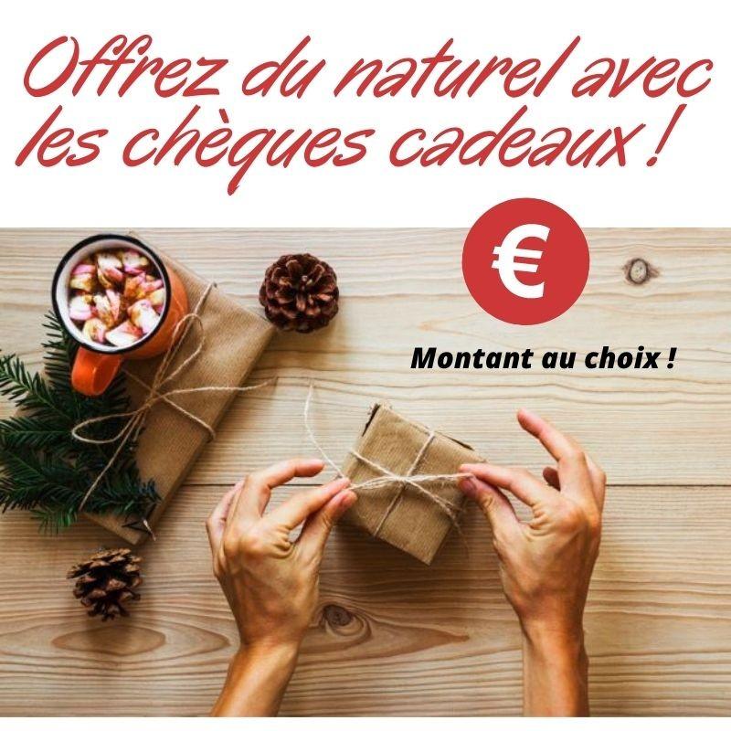 Chèque cadeau écologique par tranche de 10€