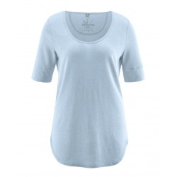 Organic cotton and hemp Vegan t-shirt for women : clear or taupe