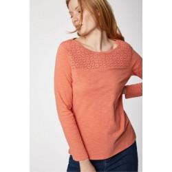 Top T-shirt bio femme 100% coton bio corail