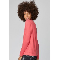 ORGANIC PINK COTTON KNIT CARDIGAN