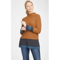 Pull en laine et coton bio marron