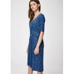 Bamboo Knot Front Midi Dress