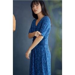 Robe Nuisette bleue en bambou et coton bio