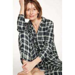 Pyjama femme 100% coton bio à carreaux