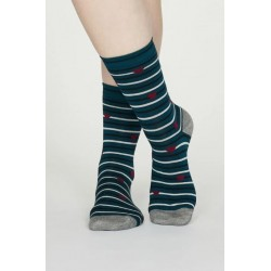 """4 Pack """"floral"""" Bamboo Sock Gift Box"""