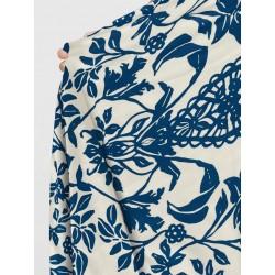 Foulard 100%  fibre de bambou bleu
