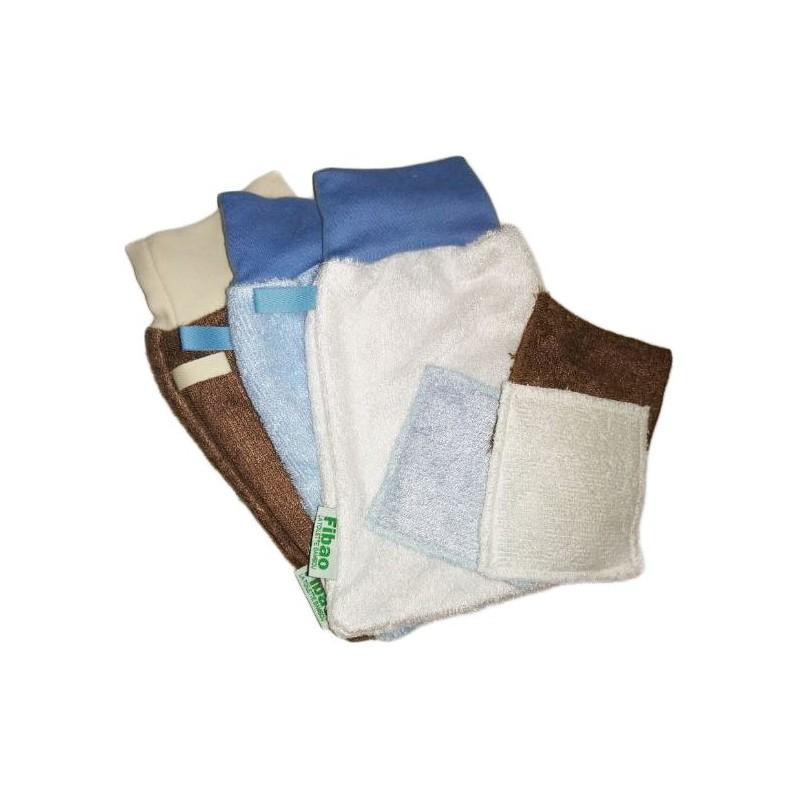 Bamboo fiber makeup : 3 washcloth & 3 wipes
