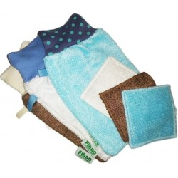 Bamboo fiber makeup : 3 washcloth & 3 wipes