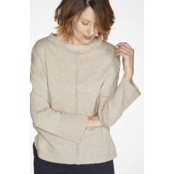 Curve Hem Organic Cotton & Wool Jumper