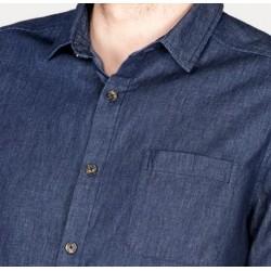 Chemise 100% coton bio chambray pour homme