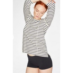 Organic Cotton Seamed Striped Top