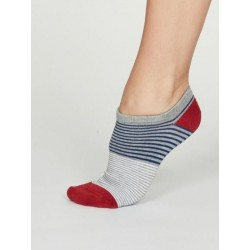 Bamboo Stripe Trainer Socks for women