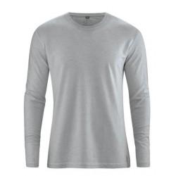 T-shirt chanvre et coton bio manches longues gris