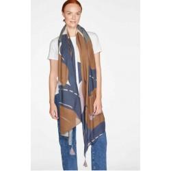 Large sarong size printed bamboo scarf