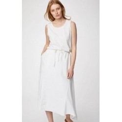 Hemp Midi Skirt In White