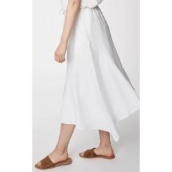 Hemp Midi Skirt In White