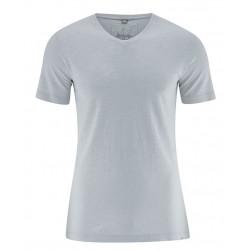 T-shirt en chanvre et coton bio gris Platinium