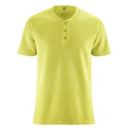 Apple t-shirt with button tape in pique style