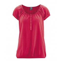 Women's short-sleeved round-neck hemp t-shirt