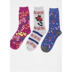 Pack 3 paires de chaussettes en bambou femmev