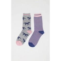 Pack 2 paires de chaussettes en bambou et coton bio femme