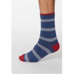 Bamboo stripe red socks for...