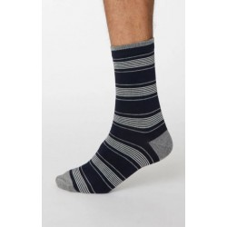 Bamboo stripe dark socks for men