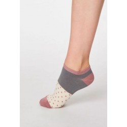 Bamboo Trainer Socks for women taupe