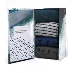 "4 Pack Organic cotton Sock Gift Box for men ""tools"""