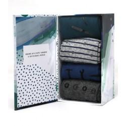 "4 Pack Organic cotton Sock Gift Box for men ""tools"""