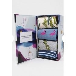 box of 4 socks Super soft bamboo and organic cotton