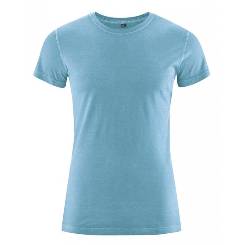 T-shirt en chanvre Homme bleu ciel