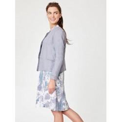 100% hemp grey jacket blazer for women