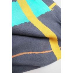 Printed Check Bamboo Sarong Scarf