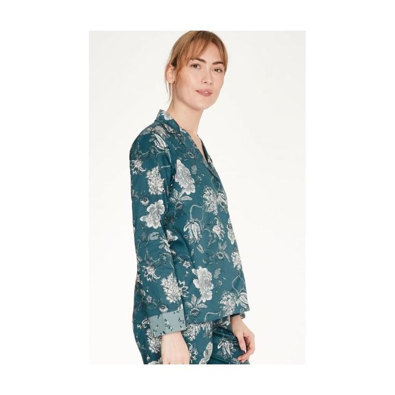 Chemise pyjama femme 100% coton sergé bio