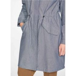 Waterproof Organic Cotton Chambray Coat