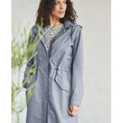 Manteau imperméable en chambray de coton bio