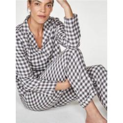 Ensemble pyjama à carreaux en coton biologique GOTS avec sac