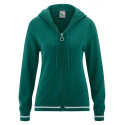 knitted hoodie with zipper...
