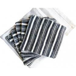 6 Lingettes en chanvre et coton bio avec sac de rangement
