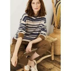 Organic Cotton & Wool Striped Jumper
