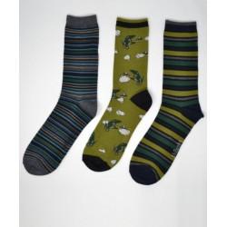 Bamboo Classic Pack Of 3 Socks