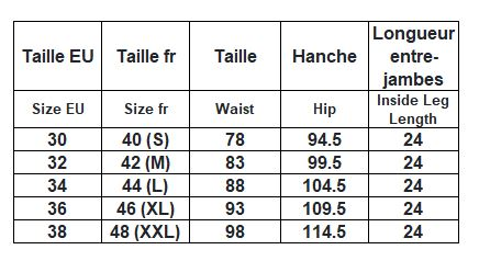 taille homme bermuda Thought