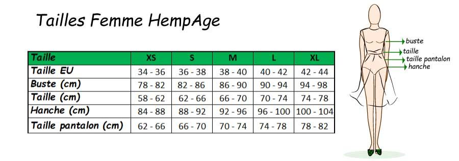 size guide woman Hempage